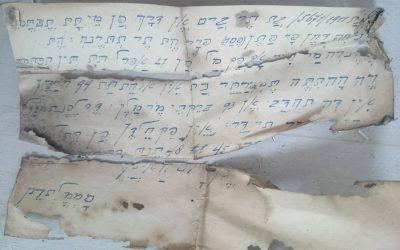 Het mysterieuze Hebreeuwse briefje….